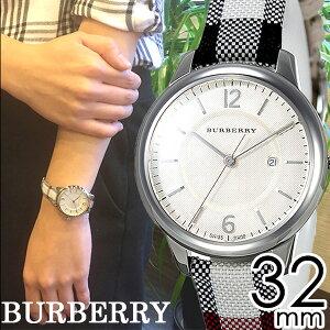 バーバリー腕時計レディース女性[BURBERRY]時計ベージュ/BU10103[おすすめ/ブランド/プレゼント/ギフト/おしゃれ/オシャレ/レザー/革/キャンバス/ホワイト/シルバー/チェック柄][クリスマスギフト]