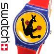 スウォッチ腕時計 Swatch時計 Swatch 腕時計 スウォッチ 時計 オリジナルズ ボクシング Originals BOXING /オレンジ GN163 [swatch スイス製 レッド/おしゃれ カラフル/ギフト/プレゼント/ご褒美][おしゃれ腕時計][新生活][母の日]