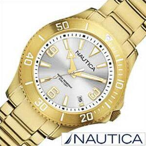 ノーティカ腕時計NAUTICA時計NAUTICA腕時計ノーティカ時計デイトMスポーツアクティブNAC102SPORTACTIVEレディース/シルバーA15639M[送料無料アナログゴールドおしゃれ]