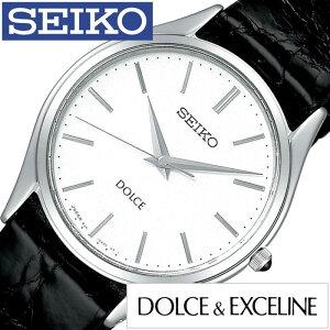 セイコー腕時計SEIKO時計SEIKO腕時計セイコー時計ドルチェ&エクセリーヌDOLCE&EXCELINEメンズ/ホワイトSACM171[アナログレザーベルトペアウォッチブラック/シルバー黒/白8J41][送料無料]