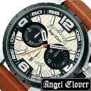 エンジェルクローバー 時計[AngelClover 時計]エンジェル クローバー 腕時計[Angel Clover 腕時計]エンジェルクローバー時計 タイムクラフト メンズ アイボリー NTC48BSB-LB[クロノグラフ ブラック 白 ギフト プレゼント ご褒美][ おしゃれ ブランド ]