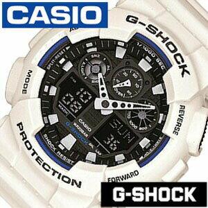 Gショック 白 Gshock ジ−ショック g-shock G-ショック 腕時計 時計 GA-100B-7AJF メンズ ブラック[アナデジ デジタル 液晶 ホワイト グレー スポーツウォッチ トレーニング 登山 マラソン ランニング 陸上競技 おしゃれ ]