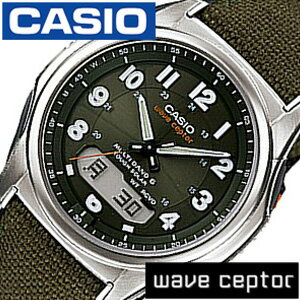 カシオ腕時計CASIO時計CASIO腕時計カシオ時計ウェーブセプターwaveceptorメンズ/グリーンCASIO-WVA-M630B-3AJF[アナデジ/デジタル/タフソーラー/電波時計/液晶/防水/シルバー/グレー/カーキ][送料無料][新成人]