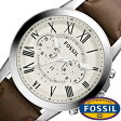 フォッシル腕時計 FOSSIL時計 FOSSIL 腕時計 フォッシル 時計 グラント GRANT メンズ/ホワイト FS4735 [革 ベルト/クロノ グラフ/ブラウン/シルバー/アイボリー/クリーム/ファッション/人気/ギフト/プレゼント/ご褒美][おしゃれ 腕時計][新生活]
