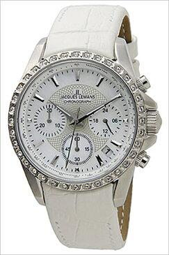 ジャックルマン 腕時計[JACQUESLEMANS 時計]ジャック ルマン 時計[JACQUES LEMANS 腕時計] リバプール LIVERPOOL レディース ホワイト JAL1-1724B [ 正規品 人気 新作 ブランド 防水 革 ベルト レザー ホワイト スワロフスキー クリスタル][ プレゼント ギフト]