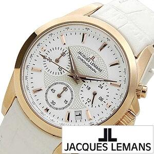 [5年保証対象]ジャックルマン腕時計[JACQUESLEMANS時計]ジャックルマン時計[JACQUESLEMANS腕時計]リバプールLIVERPOOLレディース/ホワイトJAL1-1752H[正規品/人気/新作/ブランド/防水/革ベルト/レザー/ホワイト/ピンクゴールド][送料無料]