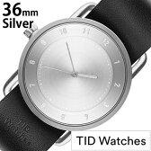 [ティッドウォッチズ]ティッドウォッチ 腕時計[TIDWatches 時計]ティッド ウォッチ 時計[TID Watches 腕時計] TIDNo. 2 レディース/シルバー TID02-SV36-BK [革 ベルト/おしゃれ/正規品/替え/北欧/アナログ/ブラック/シルバー/通販][新生活 入学 卒業 社会人]