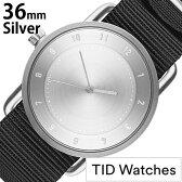 [ティッドウォッチズ]ティッドウォッチ 腕時計[TIDWatches 時計]ティッド ウォッチ 時計[TID Watches 腕時計] TIDNo. 2 レディース/メンズ TID02-SV36-NBK [NATO ベルト/おしゃれ/正規品/替え/北欧/アナログ/ナトー/ブラック/シルバー/通販][新生活 入学 卒業 社会人]