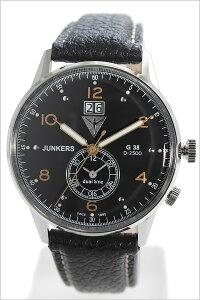 ユンカース腕時計JUNKERS時計JUNKERS腕時計ユンカース時計ビックデイトデュアルタイムBigdateDualtimeメンズ/ブラックJUN-6940-5[革ベルト/正規品/アナログ/シルバー/オールブラック/ブロンズゴールド/6940-5QZ]