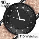 ティッドウォッチズ 腕時計 メンズ レディース [TID watches] ブラック TID01-BK40-SALMON [No.1 正規品 おしゃれ 北欧 シンプル 革 レザー バンド ブラック ギフト プレゼント ギフト おしゃれ腕時計 社会人] 誕生日