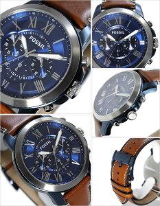 フォッシル時計[FOSSIL時計]フォッシル腕時計[FOSSIL腕時計]フォッシル時計[FOSSIL時計]フォッシル腕時計[FOSSIL腕時計]グラントGRANTメンズ/ブルーFS5151[新作/人気/流行/ブランド/防水/レザーベルト/革/ブラウン/プレゼント/ギフト][送料無料]
