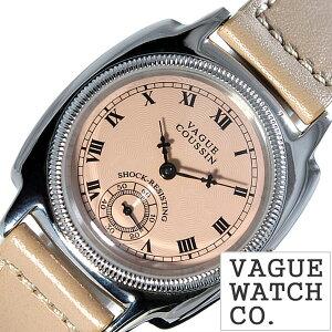 ヴァーグウォッチ腕時計[VAGUEWATCHCo.時計](VAGUEWATCHCo.腕時計ヴァーグウォッチコー時計)クッサン(COUSSIN)メンズ/腕時計/ピンクベージュ/CO-L-004[正規品/人気/流行/ブランド/防水/レザー/革/シルバー]