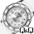 キューアンドキュー腕時計[Q&Q時計](Q&Q腕時計キューアンドキュー時計)アトラクティブ(ATTRACTIVE)レディース/腕時計/ホワイト/DA39J304[人気/流行/ブランド/海外モデル/防水/ラバー/かわいい/シルバー]