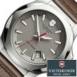 ビクトリノックス 腕時計 [ VICTORINOX時計 ]( VICTORINOX SWISSARMY 腕時計 ビクトリノックス スイスアーミー 時計 ) イノックス レザー 腕時計/グレー/VIC-241738 [正規品/ブランド/レザー ベルト/革/防水/ミリタリー/ブラウン/INOX][プレゼント・ギフト] [入学 卒業]