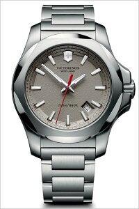 ビクトリノックス腕時計[VICTORINOX時計](VICTORINOXSWISSARMY腕時計ビクトリノックススイスアーミー時計)イノックススティール腕時計/グレー/VIC-241739[正規品/ブランド/メタルベルト/防水/ミリタリー/シルバー/INOX]