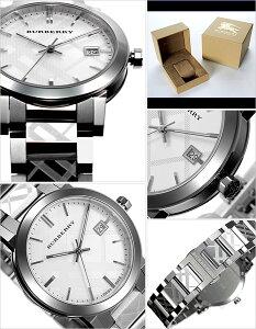 バーバリー腕時計メンズ男性[BURBERRY]時計シティ(TheCity)シルバー/BU9037[おすすめ/ブランド/プレゼント/ギフト/おしゃれ/オシャレ/メタルベルト][クリスマスギフト]