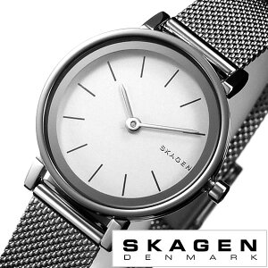 スカーゲン腕時計SKAGEN時計SKAGEN腕時計スカーゲン時計ハルドHALDレディース/ホワイトSKW2441[人気/新作/流行/ブランド/防水/メタルベルト/シンプル/北欧/ギフト/プレゼント/シルバー]