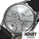 [あす楽]ヘンリーロンドン 腕時計 HENRY 時計 HENRY LONDON 腕時計 ヘンリー ロンドン 時計 ピカイディリー メンズ レディース シルバー HL39-CS-0077 [ ペアウォッチ ブランド シンプル 革 レザー ベルト ブラック プレゼント ]
