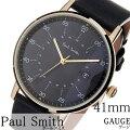 ポールスミス腕時計paulsmith時計paulsmith腕時計ポールスミス時計ゲージGAUGE41MMメンズ/グレーP10076[新作/人気/高級/トレンド/ブランド/おすすめ/オシャレ/シンプル/イギリス/ギフト/プレゼント/レザーベルト/革/ブラック]
