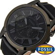 フォッシル腕時計 FOSSIL時計 FOSSIL 腕時計 フォッシル 時計 グラント Grant メンズ/ブラック FS5132 [新作/人気/流行/ブランド/防水/ギフト/プレゼント/クロノグラフ/レザー ベルト/革][父の日]