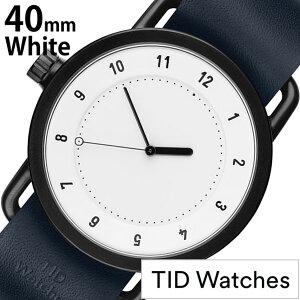 ティッドウォッチ腕時計TIDWatches時計TIDWatches腕時計ティッドウォッチ時計メンズ/ホワイトSET-TID01-WH40-NV[新作/人気/流行/ブランド/革/レザーベルト/北欧/シンプル/ネイビー]