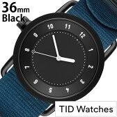 [新製品]ティッドウォッチ腕時計 TIDWatches時計 TID Watches 腕時計 ティッド ウォッチ 時計 レディース/ブラック TID01-BK36-NBL [正規品/人気/流行/ブランド/革/レザーベルト/北欧/シンプル/ブルー/ナイロン][新生活 入学 卒業 社会人]