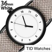 [新製品]ティッドウォッチ腕時計 TIDWatches時計 TID Watches 腕時計 ティッド ウォッチ 時計 レディース/ホワイト TID01-WH36-MILL [正規品/人気/流行/ブランド/革/レザーベルト/北欧/シンプル/グレー/ベージュ/グレージュ/革/レザー バンド][新生活 入学 卒業 社会人]