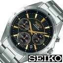 セイコー腕時計 SEIKO時計 SEIKO 腕時計 セイコー 時計 ワイアード WIRED メンズ ブラック AGAD089 [ 正規品 新作 ブランド 人気 (電池交換不要) ソーラー 防水 メタル シルバー] 誕生日 新生活 プレゼント ギフト