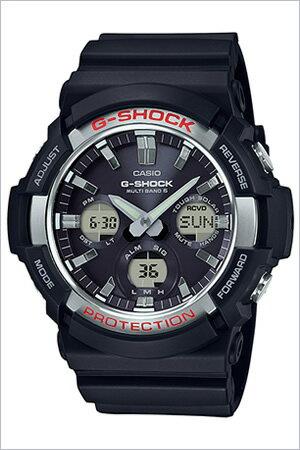 黒 メンズ Gショック CASIO ホワイト ソーラー電波時計 電波ソーラー カシオ モノトーン ブラック G-SHOCK g-shock 白 腕時計 GAW-100B-7AJF