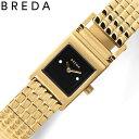 [当日出荷] 【おしゃれな女性におすすめ】ブレダ 腕時計 レベル BREDA REVEL 女性 レディース ブラック ゴールド 時計 1746B 人気 ブランド スクエア 四角 正方形 レトロ おすすめ おしゃれ プレゼント ギフト