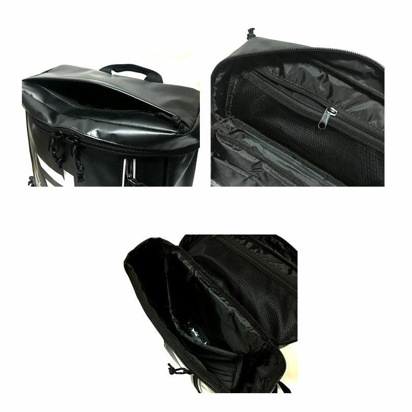 スラッシャー リュック THRASHER  撥水 防水 ターポリン スラッシャー 通学 通勤 大学 高校 中学 大容量 丈夫 バッグ バックパック リュックサック おしゃれ 黒 ブラック ボックス box type backpack