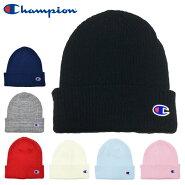 チャンピオンニット帽キャップChampionゆうパケット送料無料ニットキャップワッチロゴCAPブラックホワイトグレー帽子メンズレディースワンポイントかわいいブランドコーデ