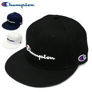 チャンピオンストレートキャップChampion帽子ベースボールキャップ送料無料スナップバックBBキャップロゴCAPブラックホワイトネイビーメンズレディースストリート