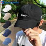 【ゆうパケット送料無料】チャンピオンキャップChampionローキャップカーブロゴブラックホワイトベージュ帽子メンズレディースブランドストリート