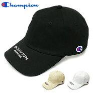 チャンピオンキャップChampion帽子ゆうパケット送料無料メンズレディースローキャップツバロゴつば別注当店限定カーブロゴブラックホワイトベージュストリート