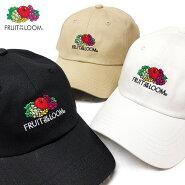 【ゆうパケット送料無料】フルーツオブザルームキャップ帽子FRUITOFTHELOOMローキャップ別注ロゴブラックホワイトベージュメンズレディースかわいい