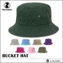 【ゆうパケット送料無料】 ニューハッタン NEWHATTAN バケットハット バケット キャップ BUCKET HAT CAP ブラック ホワイト ブルー グリーン イエロー デニム 帽子 スケート