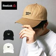 リーボックキャップReebokローキャップ帽子ゆうパケット送料無料ブラックホワイトベージュカーブスケートスケーターフェスメンズレディース刺繍LOGOベクターロゴベクターコットン綿6パネル