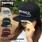 スラッシャーキャップ送料無料THRASHER帽子スナップバックブラックグレーネイビーバーガンディロゴGONZARTゴンズマークゴンザレスマークゴンザレススラッシャーTHRASHERキャップメンズレディーススケートストリート