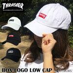 スラッシャーキャップTHRASHERcap帽子送料無料ボックスロゴMAGマグストリートスケボーコットンキャップLOWキャップローキャップカーブキャップ6パネルPOLOCAPポロキャップワークキャップ浅ブラックホワイト無地メンズレディース