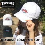 スラッシャーTHRASHERcap帽子キャップダイヤモンドDIAMONDダイアモンドマグコットンキャップLOWキャップローキャップカーブキャップ6パネルPOLOCAPポロ浅ブラックホワイト無地メンズレディース