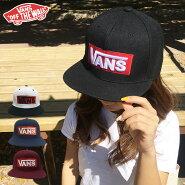 VANSバンズストレートキャップベースボールキャップ帽子capヴァンズメンズレディースブランド送料無料スナップバックブラックLOGOSNAPBACKロゴボックスバースケートスケーター