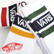 VANSソックスバンズ靴下ホワイトBORDERSOCKSCOLLEGEボーダーロゴスケートスケーターメンズレディース