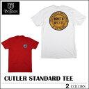 【ゆうパケット対応】 BRIXTON ブリクストン Tシャツ CUTLER ホワイト レッド トップス スケート メンズ レディース ロンハーマン クリスマスプレゼント