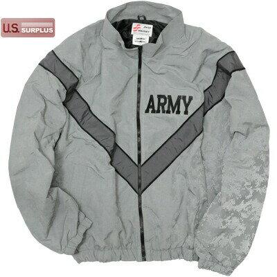 【US/米軍放出品】US ARMY PT Jacket ACU Reflect Gray フィジカルトレーニングジャケット グレー [カモフラージュ リフレクトプリント]【送料無料】
