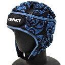 【送料無料】 【IMPACT】 インパクト マオリ ブルー ラグビー ヘッドキャップ ヘッドギア 【V2 Premium Vented】