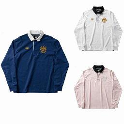 【CANTERBURY】 カンタベリー ラガーシャツ ポロシャツ 長袖シャツ メンズ ラグビー L/S RUGGER SHIRT RA40072