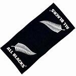 【ALLBLACKS】オールブラックスジャガード織バスタオルラグビーニュージーランド代表オフィシャルグッズ