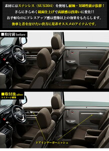 ステップワゴン/ステップワゴンスパーダRP系ドアインナーガーニッシュサビに強いステンレス製&鏡面仕上げ4P FJ4360