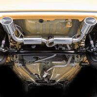 【車検対応】ロッソモデロDUALISTEXマフラースペーシアカスタムMK53Sターボ2WDスペーシアカスタムマフラーターボ専用オーバルテール左右出しスペーシアパーツハイブリッドXSターボ
